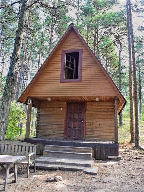 Two-storey log cabin